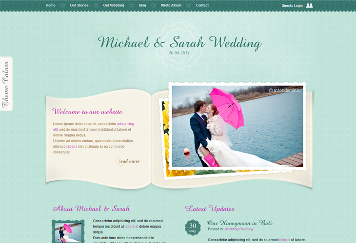 Our Wedding Page