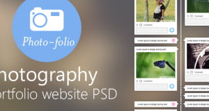 Photography Portfolio Website Template Design PSD from CSS Author – Freebie No: 55