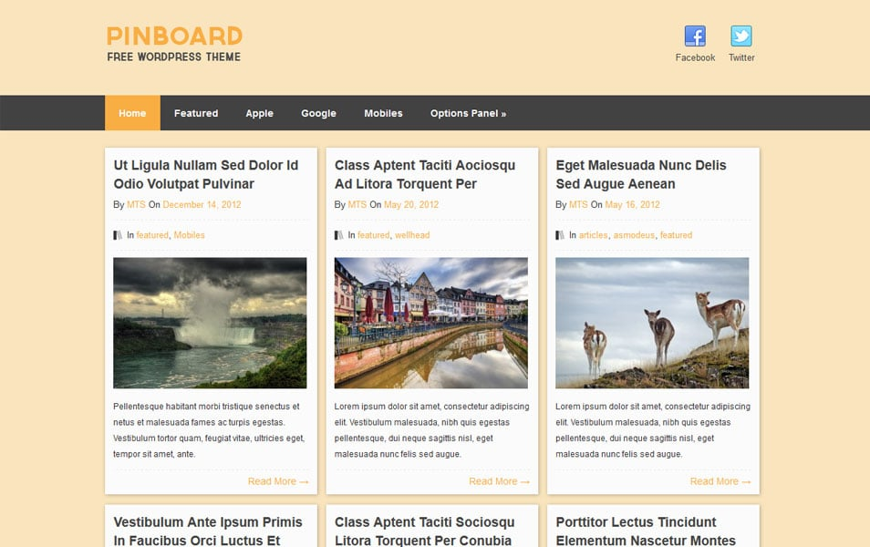 Pinboard WordPress Theme