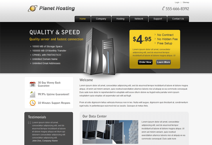 20 premium web hosting website templates for inspiration htmlcss 20 premium web hosting website templates for inspiration htmlcss joomla and wordpress pronofoot35fo Choice Image