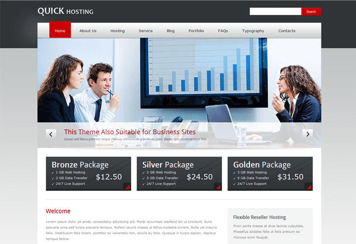 20 Premium Web Hosting Website Templates For Inspiration (HTML/CSS ...