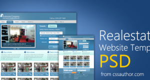 Real Estate Website Template PSD for Free Download – Freebie No: 47