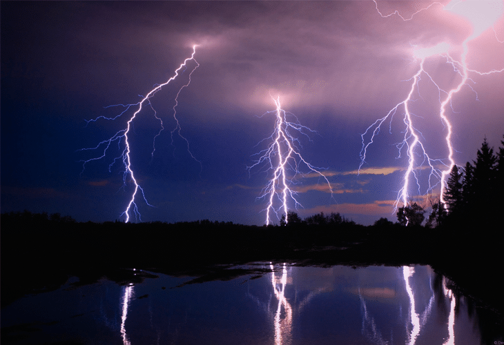 Reflections of Lightning - Windows 8 Wallpaper