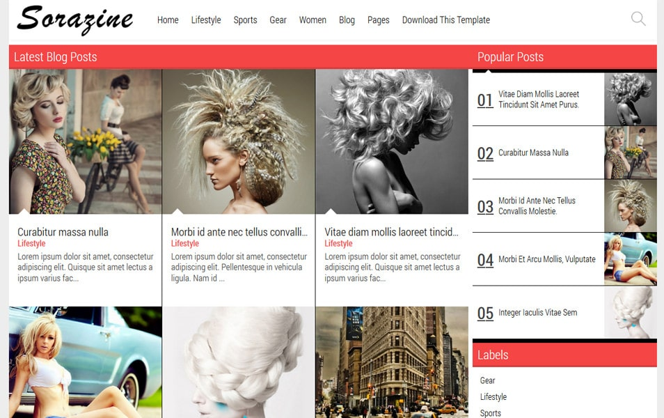 Sorazine Responsive Gallery Blogger Template