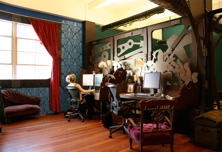 Steampunk-office-interior-design