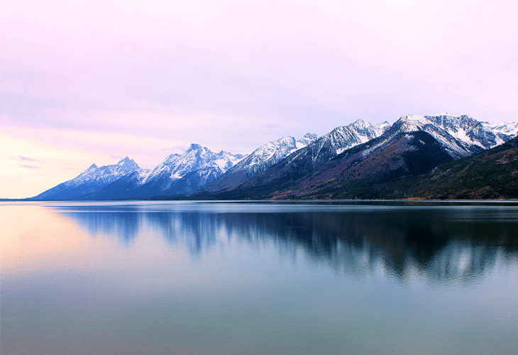 Teton Range over Jenny Lake - Windows 8 Wallpaper