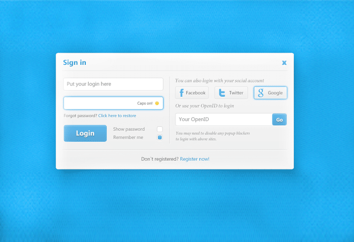Useful-Login-Form-UI-PSD