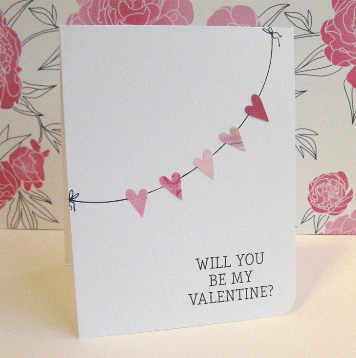 Valentine Garland Card