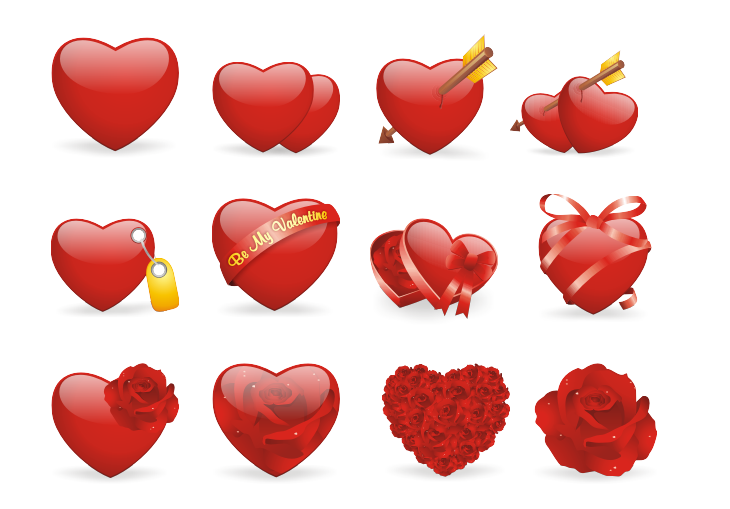 Valentine Love Icon Set