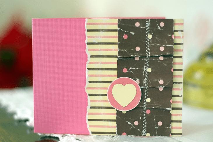 Valentine Ruffle Card
