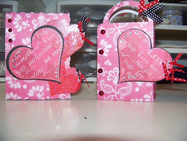 Valentine card and gift bag