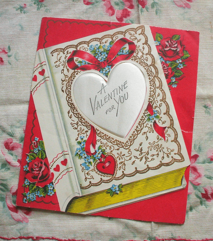 Valentine card c1950s