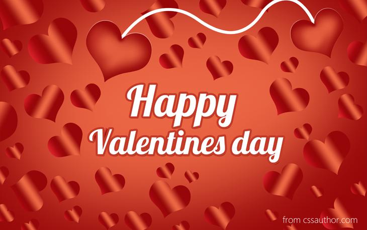 Valentines Day Greetings Card PSD - cssauthor.com