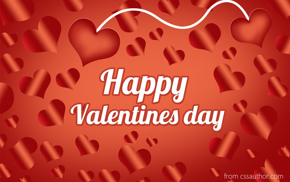 Free Download High Quality Happy Valentines Day Greeting Card PSD – Greeting Cards of Valentine Day