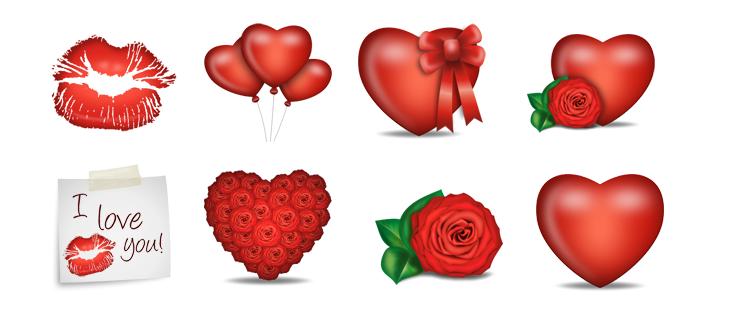 Valentines Icon Set