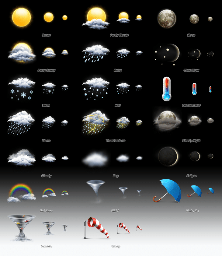 Weather Icon Set (20 icons)