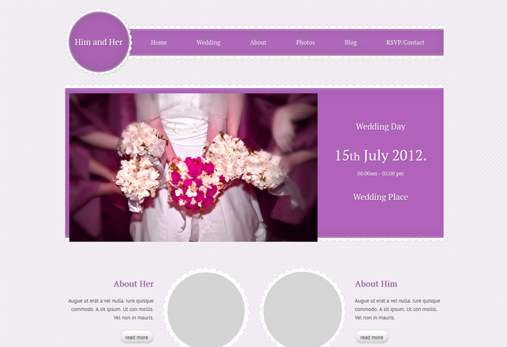 weddings websites templates