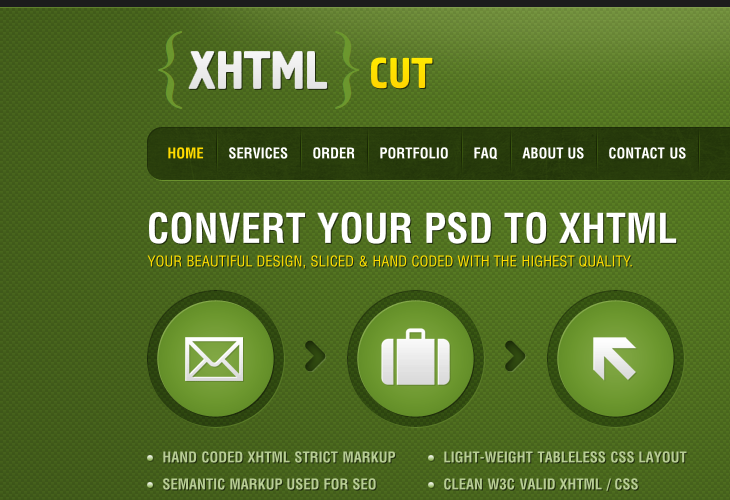 XHTMLCUT - DESIGN TO CODE