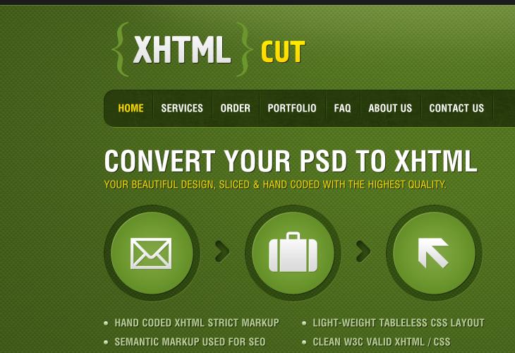 XHTMLCUT - DESIGN TO CODE