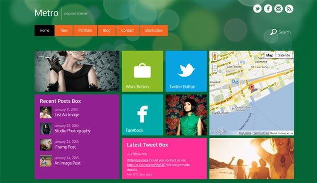 15 Responsive Metro Style WordPress Themes