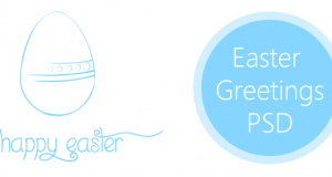2013 Easter Greetings PSD for Free Download – Freebie No: 77