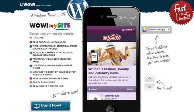 25 High Quality Premium Mobile Themes For WordPress