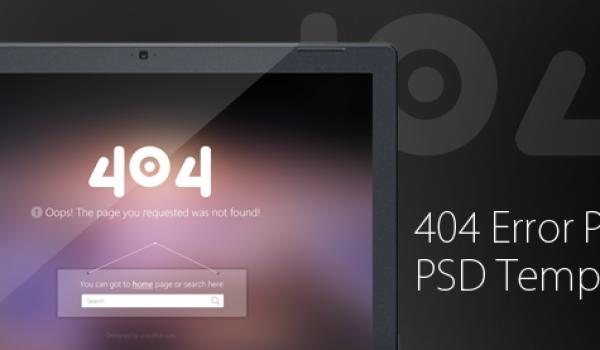 404 Error Page PSD Template for Free Download - cssauthor.com