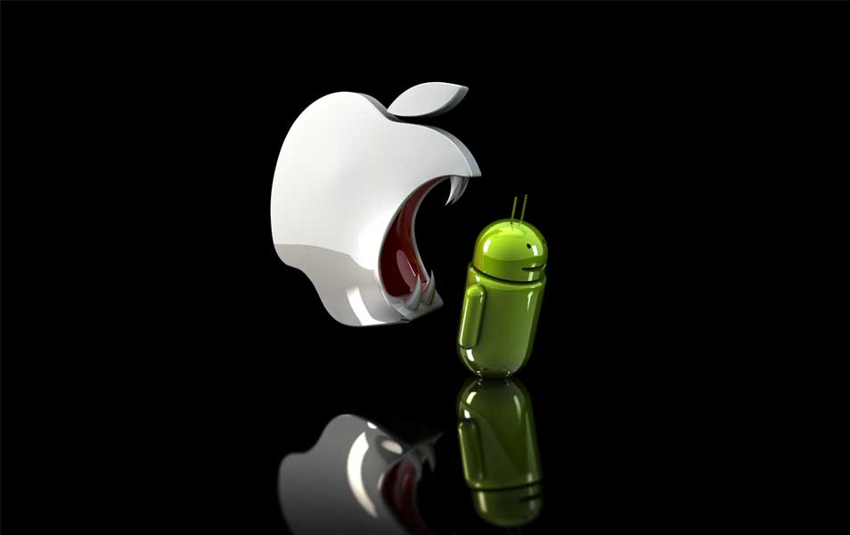 Apple Eats Android wallpaper