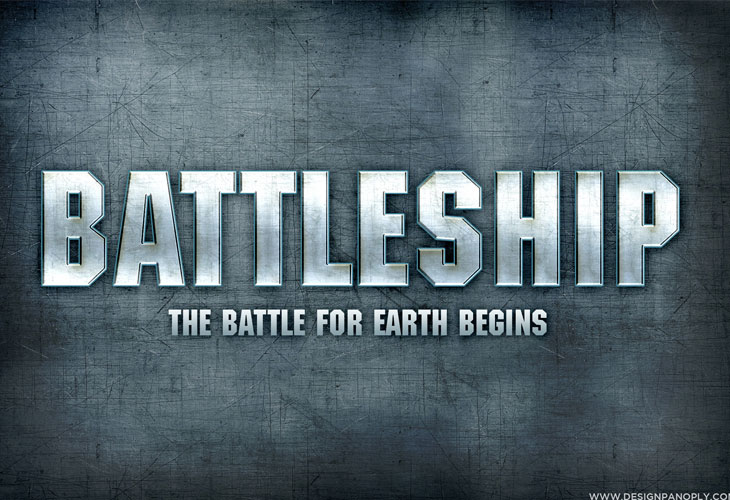 Battleship-Text-Effect