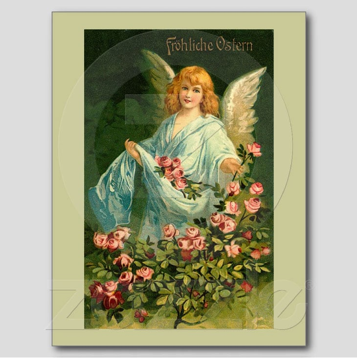 Beautiful German Vintage Easter Angel Postcards