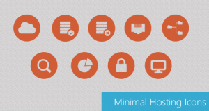 Beautiful Minimal Hosting Icons PSD for Free Download – Freebie No: 75