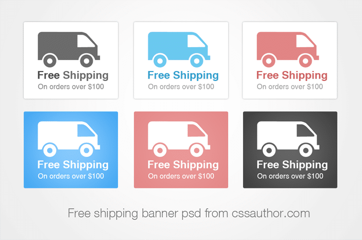 Beautiful Shipping Banner PSD for Free Download - cssauthor.com
