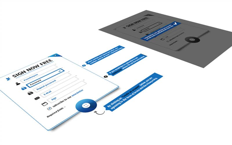 Blue Login Form PSD