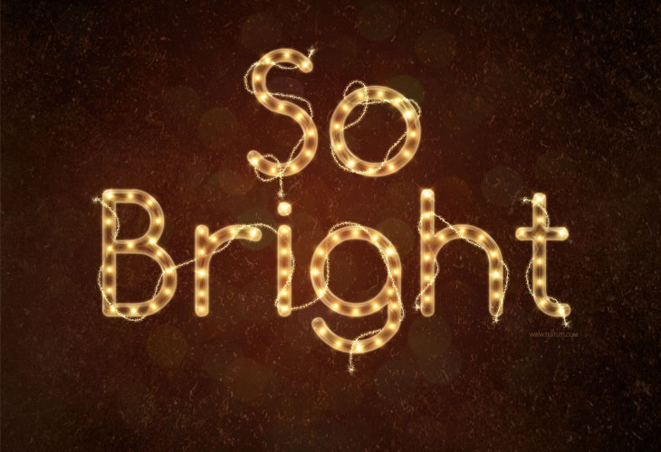 Bright-Rope-Light-Text-Effect