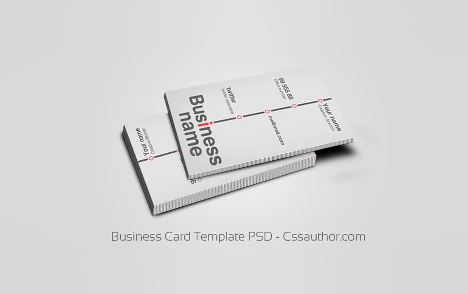 Download free business card templates psd freebie no 64 business card template psd free business card psd cheaphphosting Images