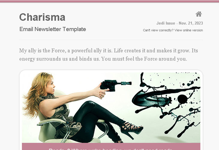 Charismatic-Emailer-email-newsletter