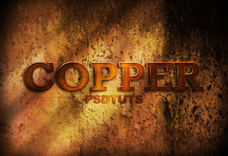 Copper-Photoshop-Text-Effect