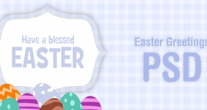 Easter Greetings Card PSD for Free Download – Freebie No: 79