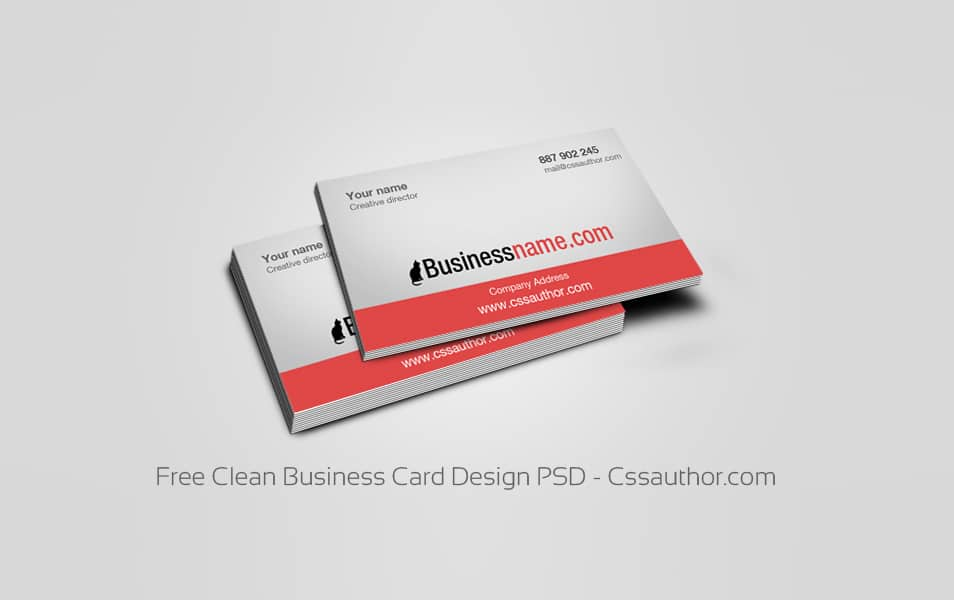 Download free business card templates psd freebie no 64 free clean business card design psd cheaphphosting Images