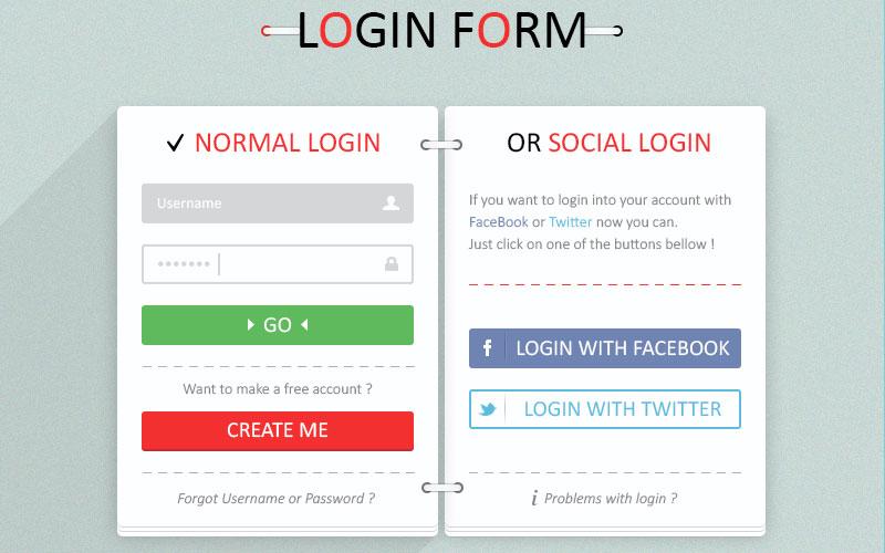 Free Login Form