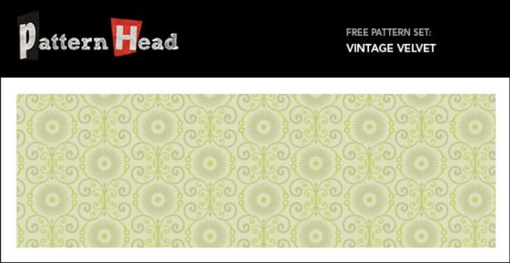 Free Seamless Vector Pattern – Vintage Velvet