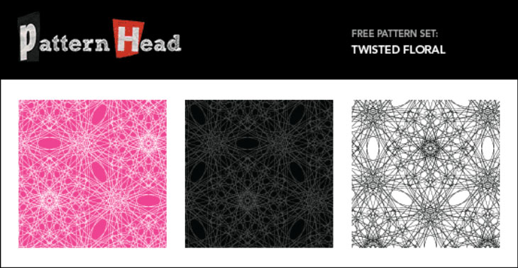 Free Seamless Vector Patterns – Twisted Floral
