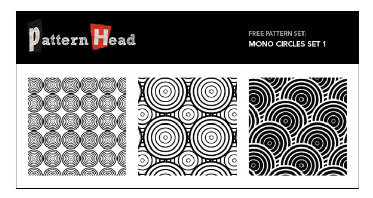 Free Vector Patterns – Mono Circles