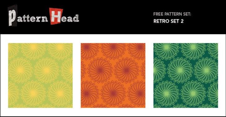 Free Vector Repeat Patterns – Retro Set 2