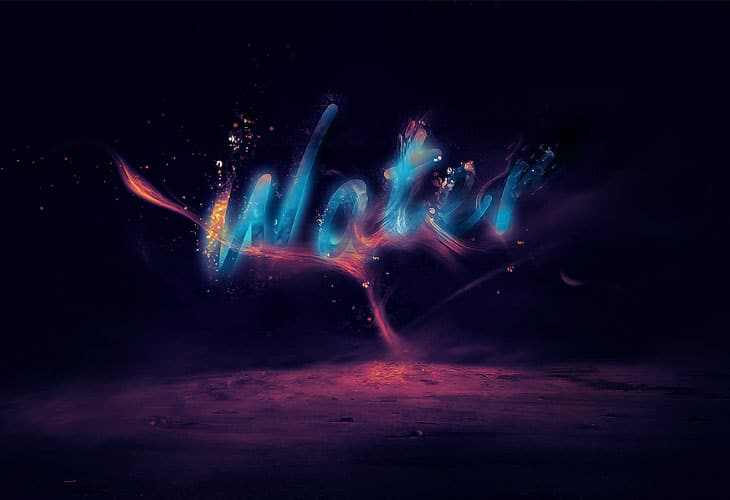 Glowing-Liquid-Text-with-Water-Splash-Effect-in-Photoshop