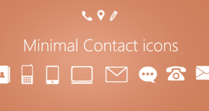 Minimal Contact Icons PSD for Free Download – Freebie No: 80