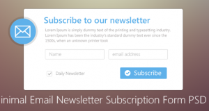 Minimal Email Newsletter Subscription Form PSD for Free Download – Freebie No: 71