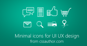 Minimal Icons PSD for UI/UX Design – Freebie No: 74