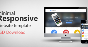 Minimal Responsive Website Template PSD For Free Download – Freebie No: 65