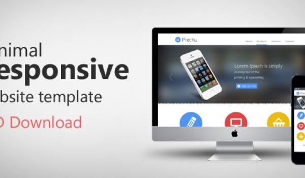 Minimal Responsive Website Template For Free Download - cssauthor.com